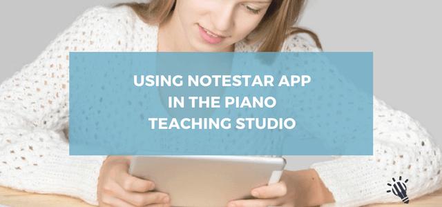 notestar app piano teaching studio
