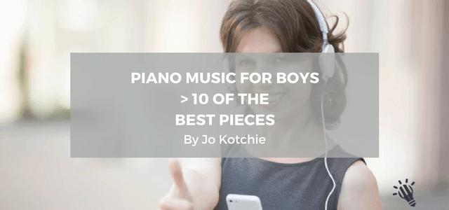 piano music for boys jo kotchie