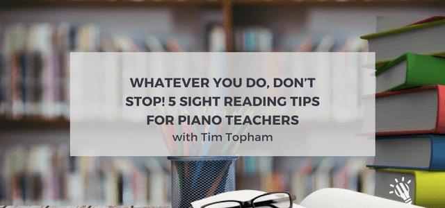 sight reading tips piano students