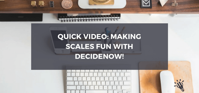 video making scales