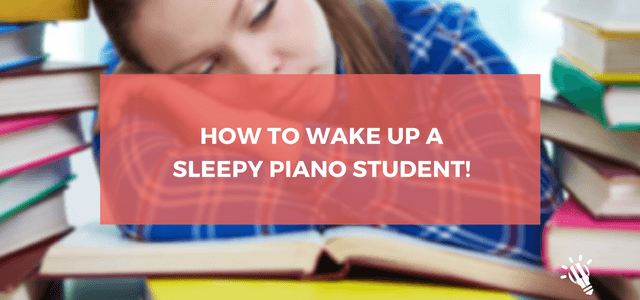 sleepy piano student