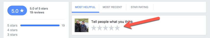 how to leave a facebook review