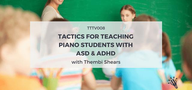 piano teaching tactics