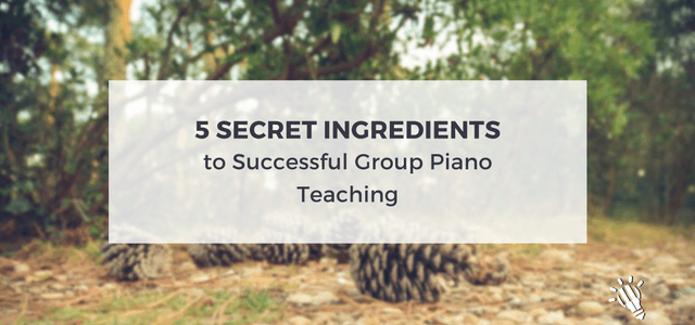 group piano teaching