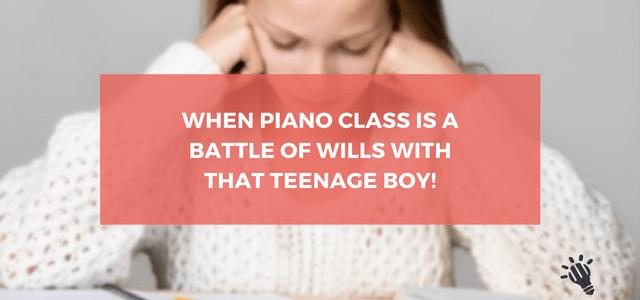 piano class teenage boy
