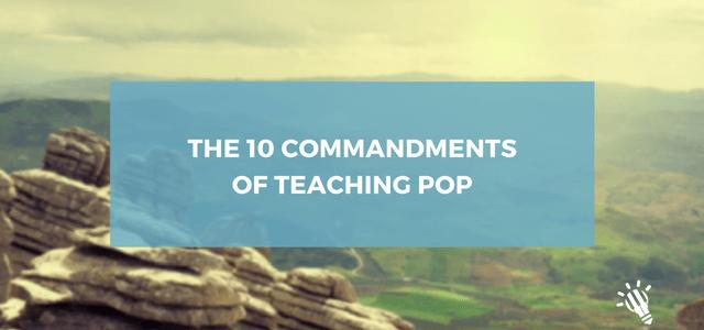 10 commandments pop teaching