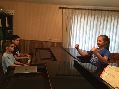 teaching conducting to piano students