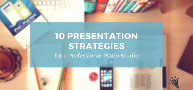 professional piano studio