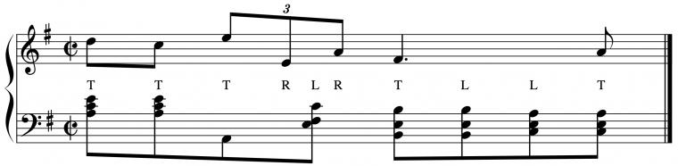 musical score of Chopin's Prelude in E minor, measure 18