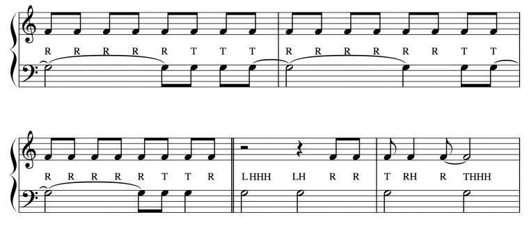 "musical score of ""Don't Stop Believin'"""