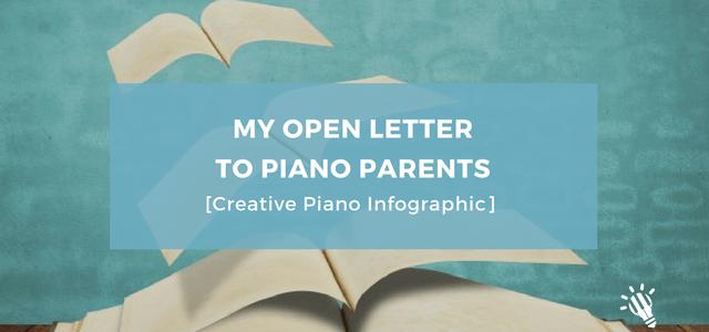 creative piano infographic