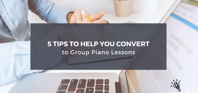 convert group piano lessons