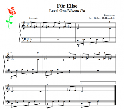 fur elise beginner piano