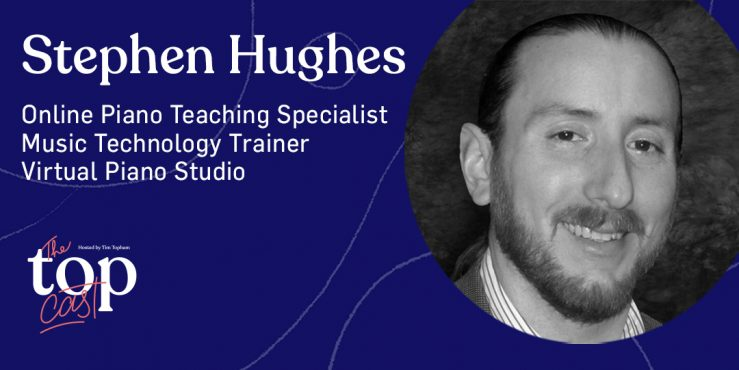 virtual piano studio guest Stephen Hughes