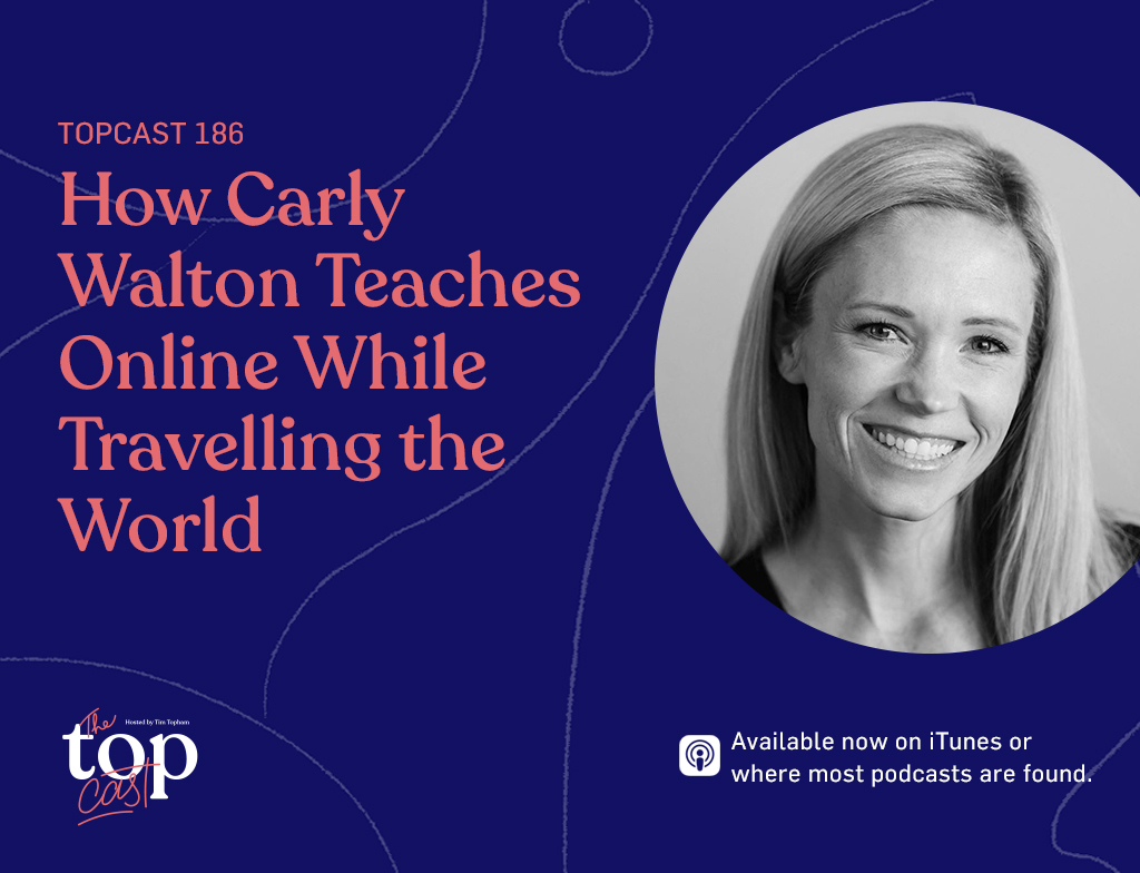 Carly Walton teaches online while travelling the world -main heading