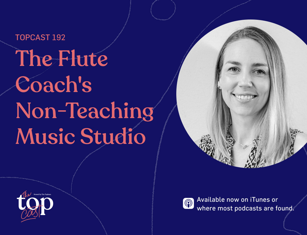 the flute coach's non-teaching dream studio
