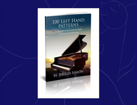 Jerald Simon 100 left hand patterns christmas piano book cover